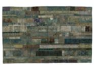 Vintage style patchwork rug PATCHWORK RESTYLED AQUA - Golran