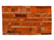 Vintage style patchwork rug PATCHWORK RESTYLED ORANGE - Golran