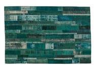 Vintage style patchwork rug PATCHWORK RESTYLED TURQUOISE - Golran