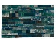 Vintage style patchwork rug PATCHWORK RESTYLED BLUE - Golran