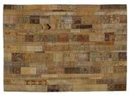Vintage style patchwork rug PATCHWORK RESTYLED BEIGE - Golran