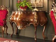Hardwood walnut luxury rounded console - Villa Venezia Collection - Modenese Gastone