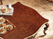 Inlaid coffee table gold leaf classical fashion style - Villa Venezia Collection - Modenese Gastone