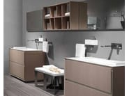 Lacquered single vanity unit K.ONE | Vanity unit - RIFRA