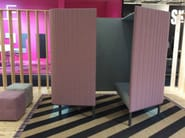 Acoustic fabric office booth BUZZIHIVE - BuzziSpace