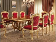 Dining table walnut gold leaf inlays handmade in Italy - Villa Venezia Collection - Modenese Gastone