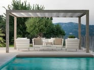 Freestanding wooden pergola with sliding cover UPPER WOOD | Pergola - Talenti
