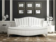 Upholstered double bed with upholstered headboard ROSE - Formenti