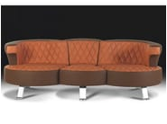 Sectional convertible leather sofa BRIDGE - Formenti