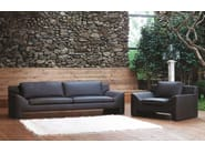 Upholstered leather armchair with armrests JAZZ | Armchair - Formenti