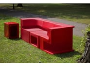 Corner polyethylene easy chair MAXÒ   Modular sofa - AREA DECLIC