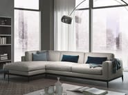 Corner sectional modular leather sofa ANTIBES | Leather sofa - MisuraEmme