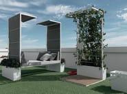 Canopy metal garden daybed OUTDOOR | Garden daybed - FALPER