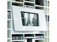 Open lacquered TV wall system CROSSING | Lacquered bookcase - MisuraEmme