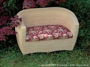 Woven wicker garden sofa YORK | 2 seater sofa - Minacciolo