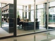 Tall modular metal office storage unit USM HALLER MODULAR OFFICE SHELVING | Office storage unit - USM Modular Furniture
