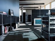 Low modular metal office storage unit USM HALLER CREDENZA AS OFFICE STORAGE | Office storage unit - USM Modular Furniture