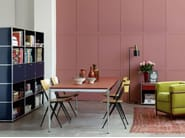 Rectangular glass dining table USM HALLER DINING TABLE | Height-adjustable table - USM Modular Furniture