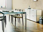 Modular lacquered metal sideboard USM HALLER CREDENZA FOR LIVING ROOM | Modular sideboard - USM Modular Furniture