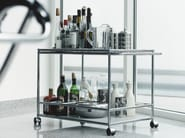 Metal drinks trolley USM HALLER SERVING CART FOR DINING ROOM | Drinks trolley - USM Modular Furniture