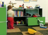 Sectional metal storage unit for kids' bedroom USM HALLER STORAGE FOR KID'S ROOM | Storage unit - USM Modular Furniture