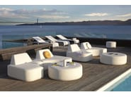 Sectional garden sofa with removable cover MOON ISLAND - MANUTTI