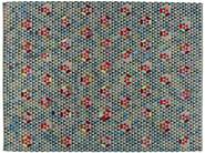 Rectangular rug with geometric shapes TRIANGLEHEX SWEET GREEN - Golran