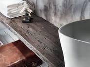 Solid wood washbasin countertop VIA VENETO | Wooden washbasin countertop - FALPER