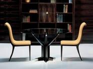 Wood and glass meeting table ENERGIA - OAK Industria Arredamenti