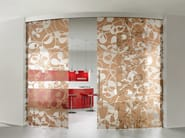 Decorated glass movable wall / Sliding door BETA FLY - Casali