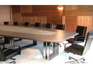 Oval wooden meeting table MARCUS | Meeting table - JOSE MARTINEZ MEDINA