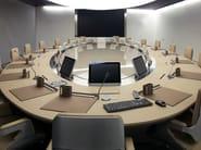 Oval leather meeting table PARK AVENUE   Meeting table - JOSE MARTINEZ MEDINA