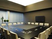 Square leather meeting table PARK AVENUE | Square meeting table - JOSE MARTINEZ MEDINA