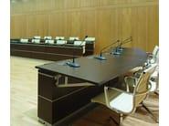 Modular wooden meeting table DEMIMUR - JOSE MARTINEZ MEDINA