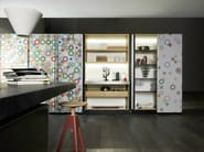 Fitted kitchen with island NEW LOGICA SYSTEM | ARTEMATICA VITRUM - VALCUCINE