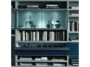 Sectional wall-mounted lacquered storage wall CROSSING TEKA | Storage wall - MisuraEmme