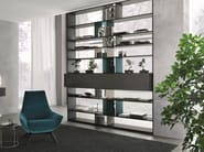 Open double-sided divider bookcase URBAN | Divider bookcase - MisuraEmme