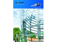 Continuous facade system FITECHNIC Glass Fitting MODEL 2 - Pentagonal