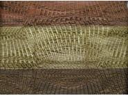 Striped cotton fabric GOTHAM DARK - KOHRO