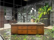 Corten™ kitchen with island MINÀ LIMITED EDITION - Minacciolo
