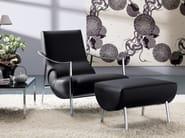 Armchair with footstool ATUL | Leather armchair - Bontempi Casa