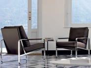 Upholstered imitation leather armchair CLARISSA - Bontempi Casa
