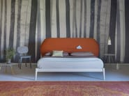 Double bed with upholstered headboard SHIKO POCKET - Miniforms
