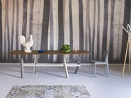 Rectangular steel and wood dining table PERCH | Contemporary style table - Miniforms