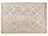 Patterned rectangular rug DENTELLE - ROCHE BOBOIS