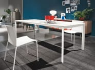 Extending melamine-faced chipboard table DUBLINO - Bontempi Casa