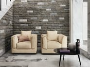 Upholstered armchair with armrests GENTLEMAN | Armchair - Flou
