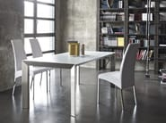 Rectangular crystal and steel table GENIO - Bontempi Casa