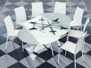 Extending crystal table GIRO | Round table - Bontempi Casa