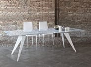 Rectangular crystal and stainless steel table RAMOS | Living room table - Bontempi Casa